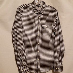 MEN'S BANANA REPUBLIC BLK/WHT CHECK SHIRT Sz S